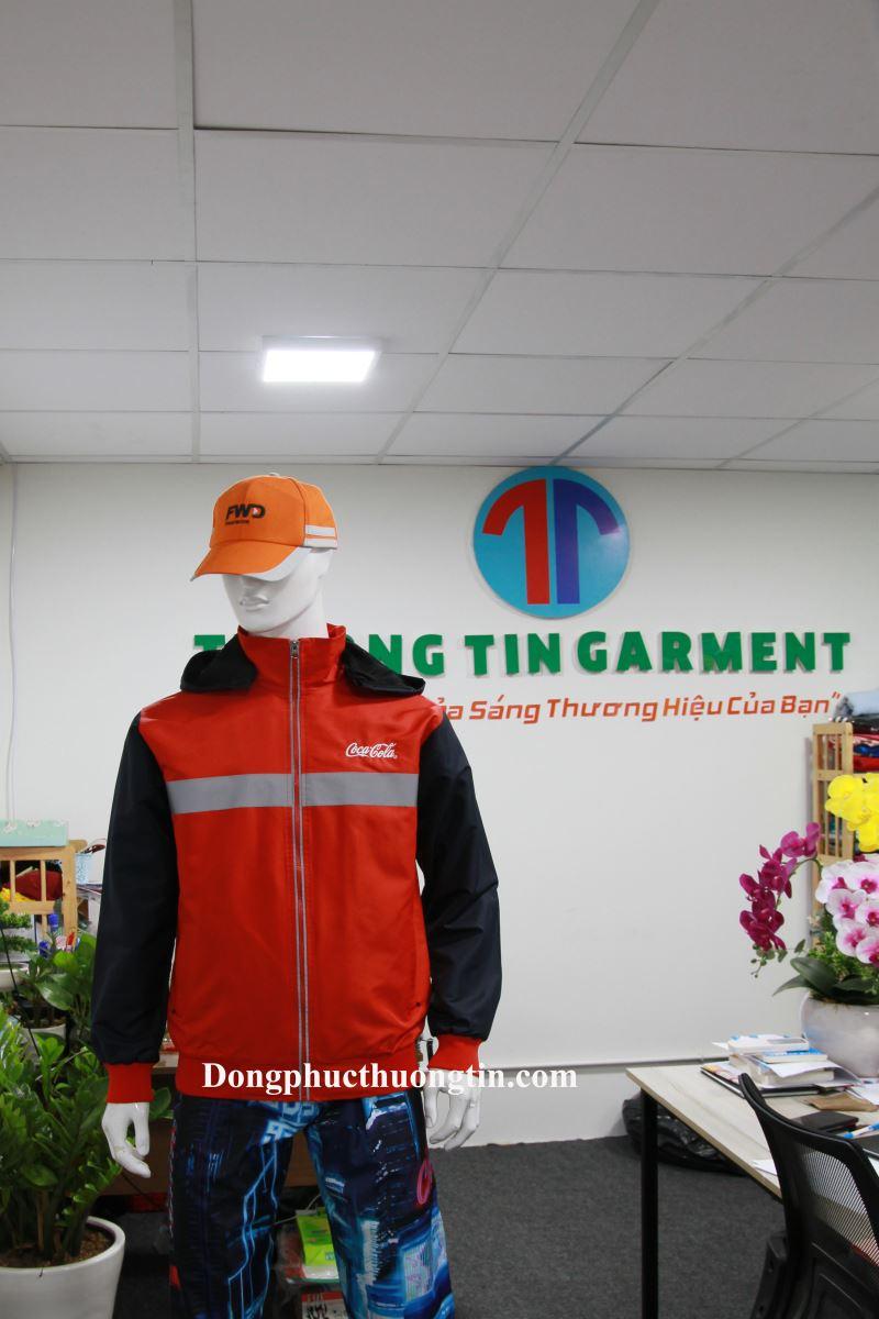 Xưởng may áo khoác áo gió đồng phục quà tặng công ty